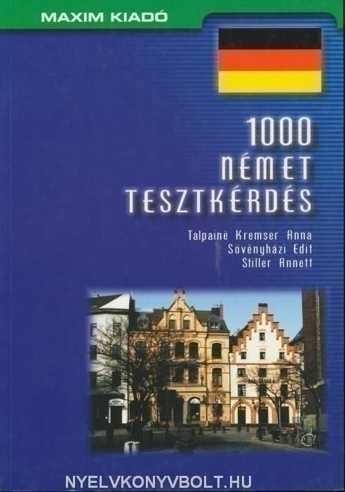 1000 német tesztkérdés