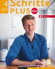 Schritte plus Neu 4: A2.2 Schweiz - Kursbuch + Arbeitsbuch mit Audio-CD zum Arbeitsbuch
