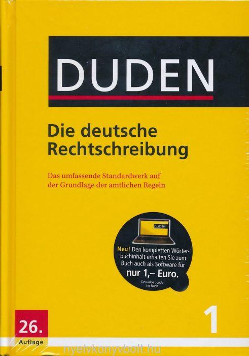 Duden 1 - Die deutsche Rechtschreibung 26. auflage