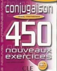 Conjugaison 450 nouveaux exercices Intermédiaire Livre+corrigés