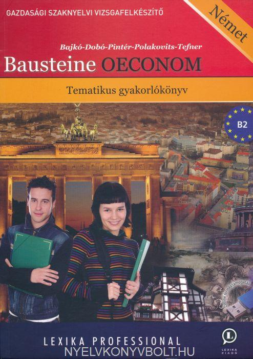Bausteine OECONOM - Tematikus gyakorlókönyv letölthető hanganyaggal és szószedettel
