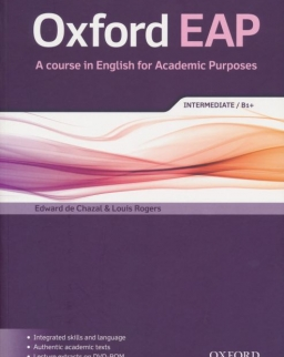 Oxford EAP - A course in English for Academic Purposes Intermediate B1+ Student's Book with DVD-Rom