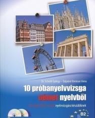 10 próbanyelvvizsga német nyelvből B2 szintű (Telc és ECL) nyelvvizsgára készülőknek + 2 CD (MX-304)