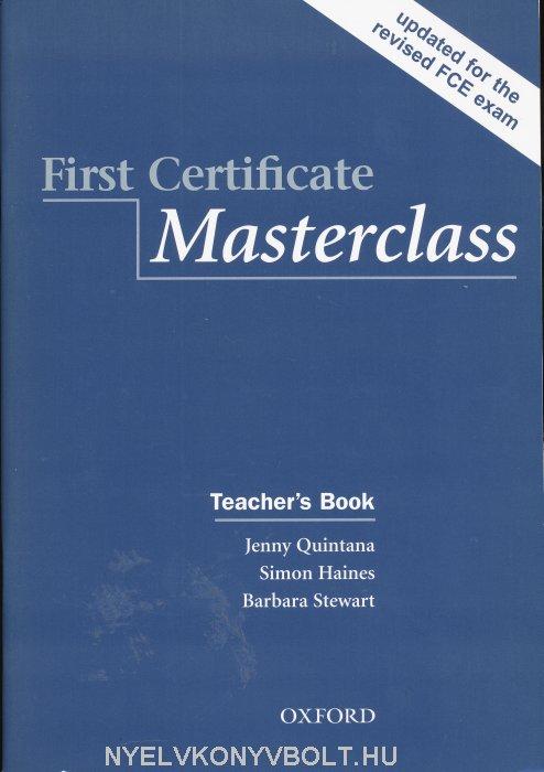 First Certificate Masterclass 2008 Edition Teacher's Book