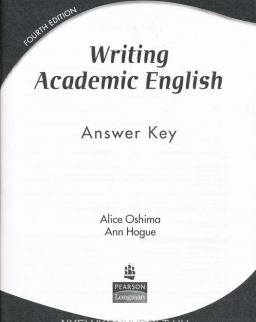 Writing Academic English - 4th Edition Answer Key