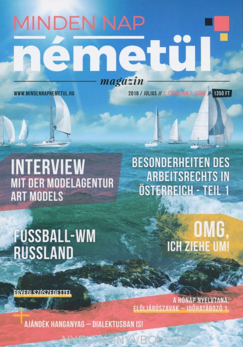Minden nap németül magazin 2018 július