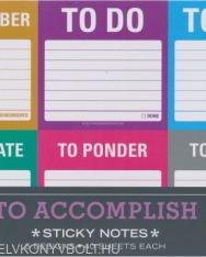 Knock Knock To Accomplish Sticky Notes Packet