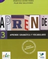 Aprende Gramática y Vocabulario 3 - Incluye solucionario