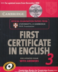 Cambridge First Certificate in English 3 Official Examination Past Papers Student's Book with Answers and 2 Audio CDs Self-Study Pack for Updated Exam 2008 (Practice Tests)
