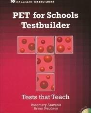 PET for Schools Testbuilder Student's Book with Audio CD