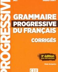 Grammaire progressive du français - Niveau débutant - 3eme édition - Corrigés