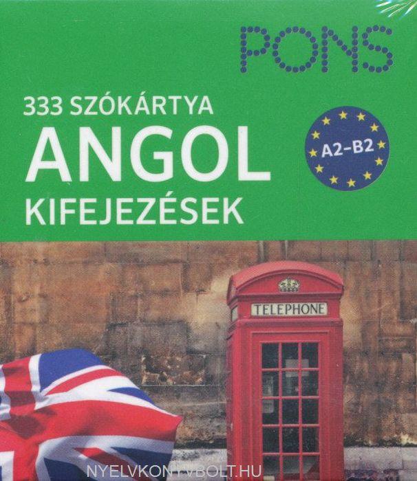 Pons 333 szókártya Angol kifejezések A2-B2