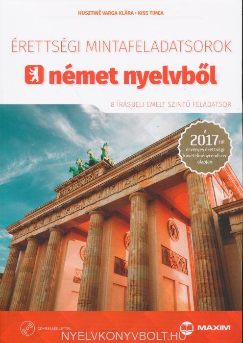 Érettségi mintafeladatsorok német nyelvből - írásbeli emelt szint