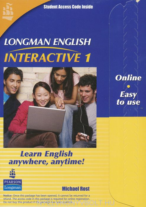 Longman English Interactive 1 British English Online Code Card
