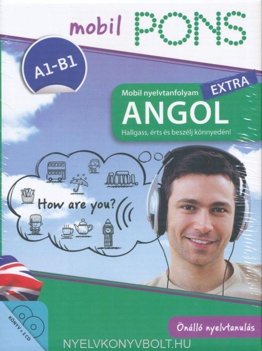 Pons Mobil nyelvtanfolyam Extra - Angol A1-A2 Könyv + 2 CD