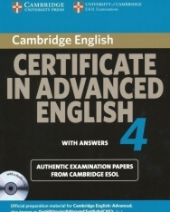 Cambridge Certificate in Advanced English 4 Official Examination Past Papers Student's Book with Answers and 2 Audio CDs Self-Study Pack for Updated Exam 2008 (Practice Tests)