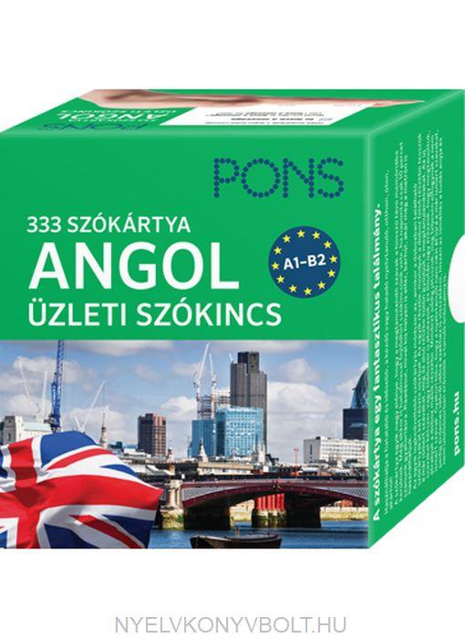 Pons Szókártyák - Angol Üzleti Szókártyák 333 szó