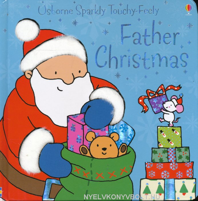 Usborne Sparkly Touchy-Feely Father Christmas Board Book