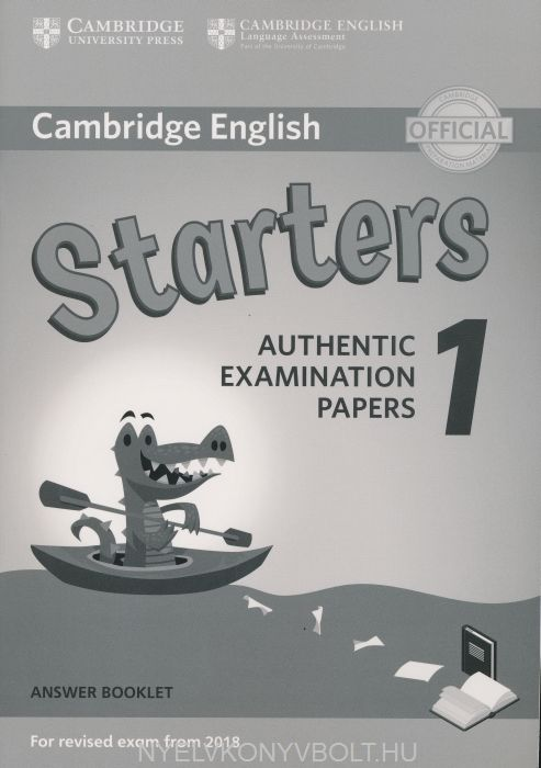 Cambridge Englis Starters 1 Answer Booklet for Revised exam from 2018
