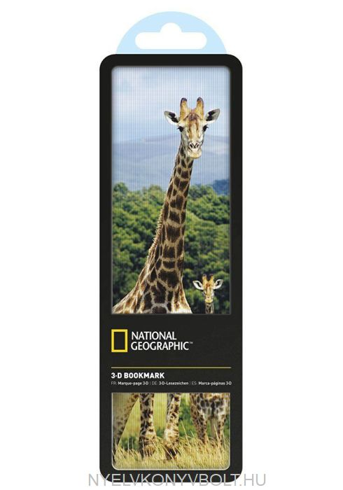 National Geographic 3-D Bookmark - Giraffes