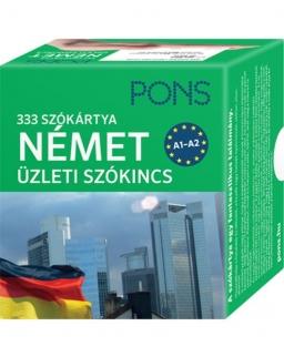 PONS 333 szókártya német üzleti szókincs A1-A2