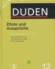 Zitate und Aussprüche (3. Auflage) - Der Duden in 12 Bänden/Band 12