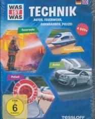 Was ist was: Technik - Autos, Feuerwehr, Eisenbahnen, Polizei DVD(4)