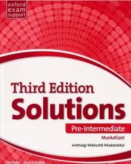 Solutions 3rd Edition Pre-Intermediate Munkafüzet - érettségi felkészítő feladatokkal