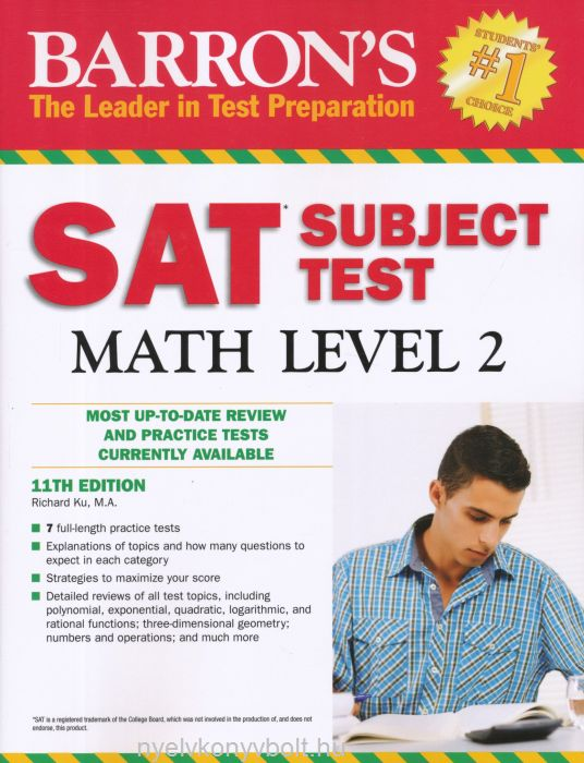 Barron's SAT Subject Test Math Level 2 11th Edition
