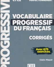 Vocabulaire progressif du français - Niveau perfectionnement - Corrigés - Nouvelle couverture