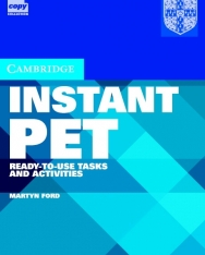 Cambridge Instant PET Ready-to-Use Tasks and Activities Book with Audio CDs