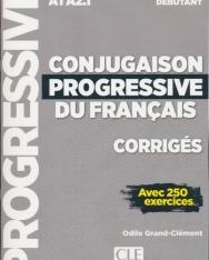 Conjugaison progressive du francais - Niveau débutant - Corrigés - Nouvelle couverture