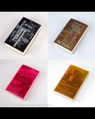 CoverUp könyvborító (fekete, barna, rózsaszín, narancssárga)