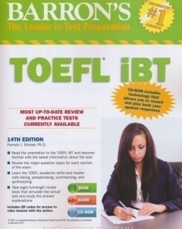 Barron's TOEFL iBT 14th Edition with CD-ROM and Audio CDs (2)