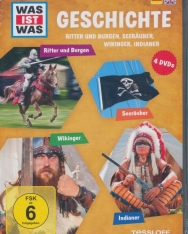 Was ist was: Geschichte - Ritter und Burgen, Seeräuber, Wikinger, Indiane DVD(4)
