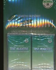 Test Auditivi - Gazdasági szaknyelvi hallás utáni tesztek olasz nyelven, közép- és felsőfok+2kazetta