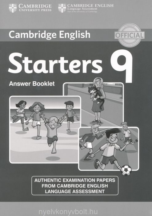 Cambridge English Starters 9 Answer Booklet