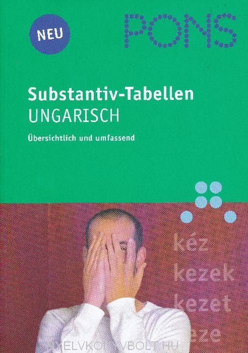 PONS Substantiv-Tabellen Ungarisch - Übersichtlich und umfassend