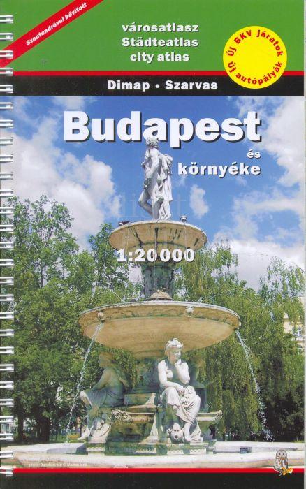Budapest és környéke spirálos atlasz