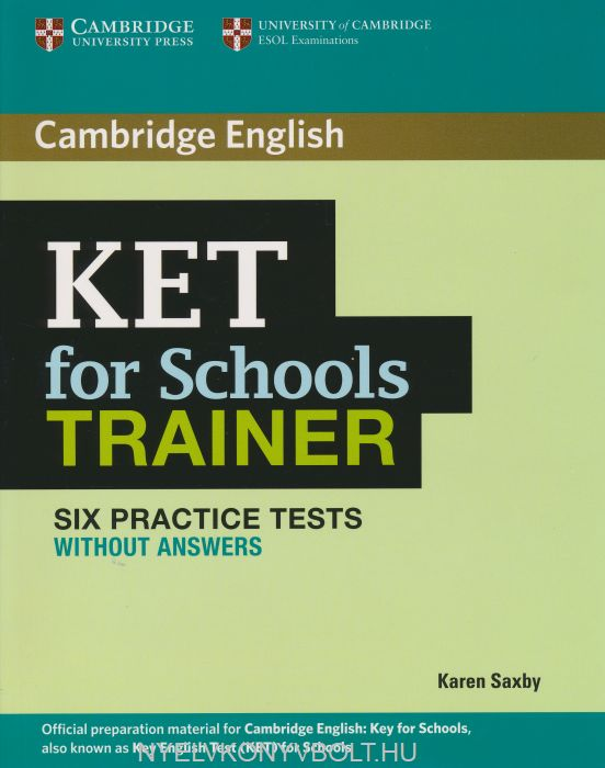 Cambridge KET for Schools Trainer without Answers