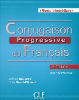 Conjugaison progressive du français avec 450 exercices 2e édition- Niveau inrtermédiaire -Livre + CD Audio
