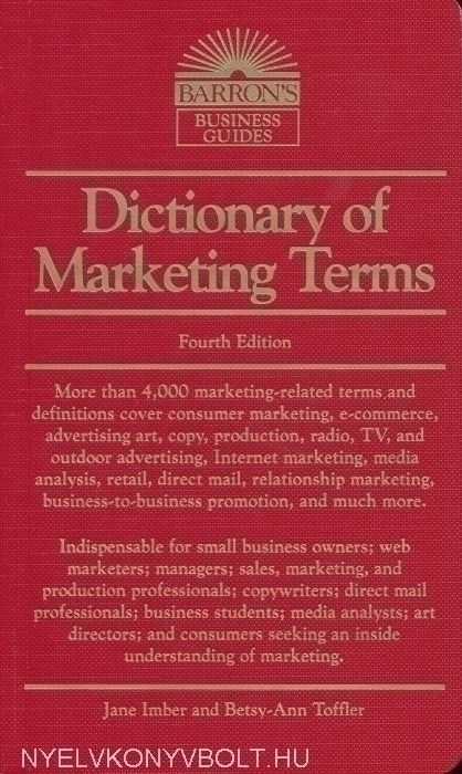 Barron's Dictionary of Marketing Terms