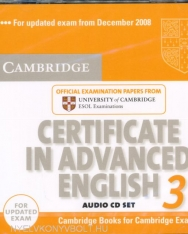 Cambridge Certificate in Advanced English 3 Official Examination Past Papers Audio CDs (2) for Updated Exam 2008 (Practice Tests)