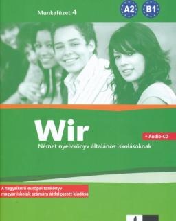Wir 4 Munkafüzet + Audio CD - Német nyelvkönyv általános iskolásoknak