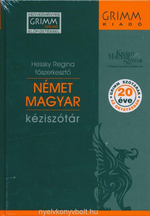 Német–magyar kéziszótár 7. javított kiadás