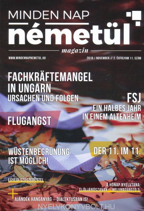 Minden nap németül magazin 2018 november