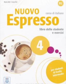 Nuovo Espresso 4 B2 Libro dello studente e esercizi + CD Audio
