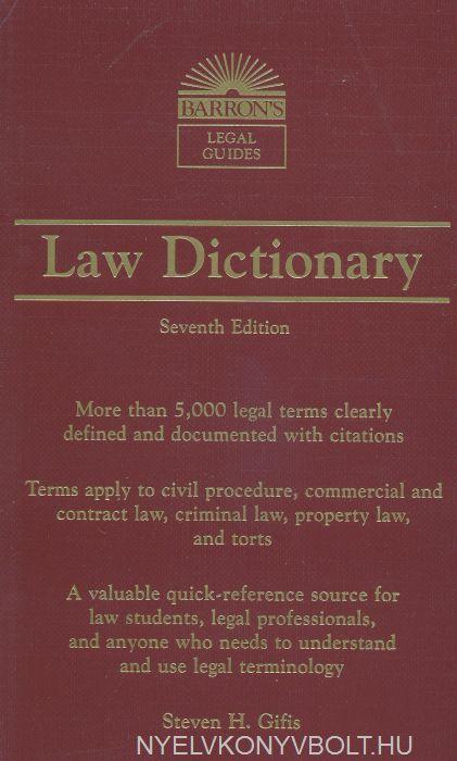 Barron's Law Dictionary Seventh Edition