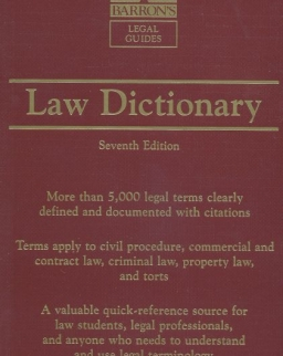 Barron's Law Dictionary Seventh Edition