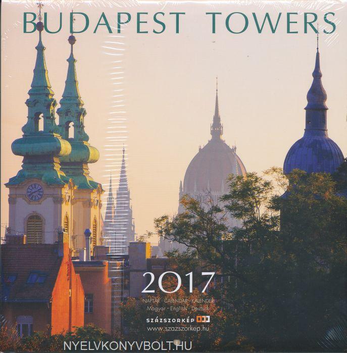 Budapest Towers falinaptár 2017 (22x22)